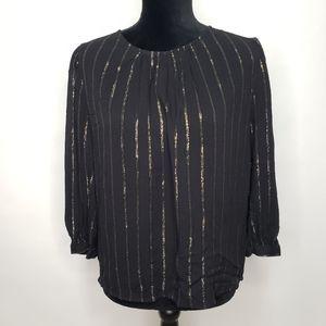 Treasure and Bond vertical sparkle stripe blouse